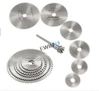 Wholesale 6pcs HSS Circular Saw Blade With Mandrel Max RPM Speed for Rotary Tool Mandrel SET