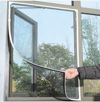 Wholesale Insect Fly Bug Mosquito Window Net Netting Magic Mesh Screening Sticky Velcro Tape Black cm cm