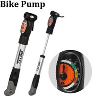 Wholesale Brand New BETO Aluminium Alloy Mini Portable Cycling Bike Bicycle Tire Inflator Air Pump with Pressure Gauge Bracket CMP