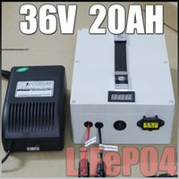 Wholesale 36V Ah LiFePO4 Portable Battery Pack solar energy Electric Bicycle Battery BMS Charger v lithium scooter electric bike battery pack