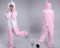 adult rabbit onesie - 2015 Cosplay Winter Rabbit Kigurumi Pajama Flannel Pajamas Hooded Conjoined Sleepwear Costumes Adult Unisex Onesie Soft Sleepwear CC060504
