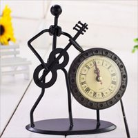 Wholesale Creative Alarm Clock Iron Model Design Fashion Home Decor Table Clock Novelty Practical Gift for Chidren Student
