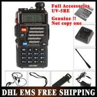 Wholesale 10PCS Baofeng UV RE Dual Band Radio VHF UHF Mhz w CH Walkie Talkie MAH With Full Accessories