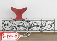 art railings - French railings personalized tv wall stickers child real black specular furnishings decorative painting