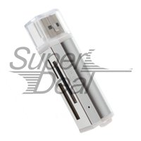 Wholesale quot Mini Multi in One Memory Card Reader support M2 MS Micro TF All in oneWorldwide sale