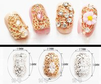 Wholesale 23 styles High grade alloy jewelry Manicure zircon diamond retro sticker metal false nail pierced decorative nail art