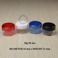 arts cosmetic box - 30pcs g Four Color Small Plastic Cream Jar Lid Sample Container Box Empty Jar Cosmetic Packaging Nail Polish Powder Glitter Art Bottle