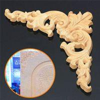 Wholesale 1PC x cm Wood Oak Carved Corner Onlay Applique Furniture Unpainted
