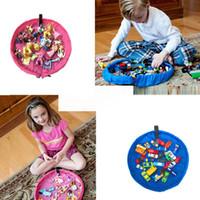 Wholesale 45cm Portable Kids Children Infant Baby Play Mat Storage Bags Toys Organizer Blanket Rug for brick Toys