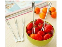 Wholesale Summer onlycook fashion creative stainless steel fruit fork stainless steel cake fork Korea two tooth fork dessert fork cutlery