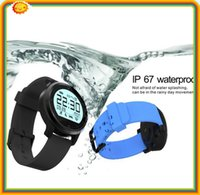 aluminium english - 5 F68 Aluminium alloy Waterproof Heart Rate Monitor Tracker Waterproof Smart Watch with bluetooth4 sedentary remind vibration pedomete