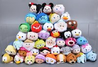 aladdin doll - 125pcs Tsum Tsum Cartoon Plush Toys Screen Cleaner For IPhone Stuffed Dolls Inside Out Minnie Domo Kun Aladdin Hans Kids Toy For Children
