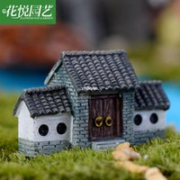ancient chinese pots - mini microlandschaft cute craft Chinese ancient archway door factory direct Decoration Accessories flesh pots of moss bottle