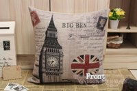 big lots cribs - Printed England Banner and big ben Cotton Linen Cushion Cover Pillow Cover x45CM Option B