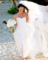 Cheap Megan Fox Hhawaii Sweetheart Ruffles Empire High Waist Chiffon Informal Beach Wedding Dresses New Fashion Sexy