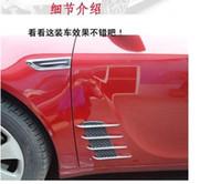 Wholesale Car body side vents Fender Side Vent Modified Outlet Decoration Sticker Shark Gills for All Car Model