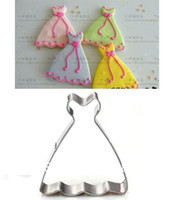 Wholesale Wedding Dress biscuit cookie cutter metal fondant cake decorating tools kitchen accessories for baking tools