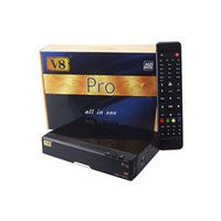 al por mayor dvb-c receiver-Openbox V8 PRO COMBO TV vía satélite Receptor HD DVB-S2 + DVB-T2 / DVB-C Doble sintonizador USB de la ayuda WiFi Cccamd Newcamd Youtube YouPorn