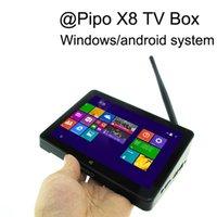 Wholesale Original PIPO X8 TV box Intel Z3736F Quad Core Dual Boot Tablet Mini PC HDMI G G WIFI window android