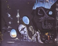 atomic hand - oil painting Melancholy Atomic by Salvador dali art Canvas High quality Hand painted