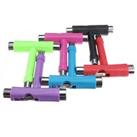 Wholesale High quality Multi Color Portable All in Multifunctional Skateboard Skate Board Scooter Longboard T shape Adjusting Tool