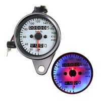 Wholesale Backlight DC V Universal Motorcycle Speedometer Odometer Gauge With Dual Speed turn signal light Velocimetro de la motorcycle