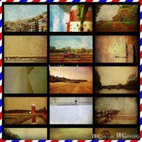 anniversary poems - Rural Poems Europe and America Old Photos Postcard Christmas Card Greeting Cards oil painting Postcards set