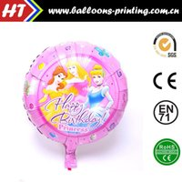 Wholesale 50pcs alumnum balloons Festival party supplies latest inch round foil helium balloon Barbie doll baby birthday party balloons self s