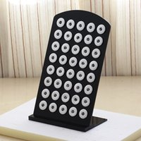 jewelry display set - Vocheng NOOSA Black Acrylic Snap Display Detachable Set for mm Snap Buttons Gingersnaps Jewelry Vn