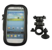 bag bike lot - 100pcs Bike Bag Rotation Bicycle Waterproof Phone Bag Case Mount Holder For Samsung For Galaxy S4 i9500 S3 i9300