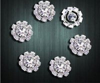 Wholesale 10pcs Round silver flat back crystal diamond buckle jewelry hair accessories AE03151 order lt no track