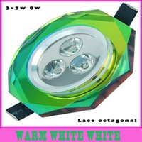 Wholesale diverse anise super bright LED Crystal Light Ceiling Spotlight Downlight W v living room light bulb spot