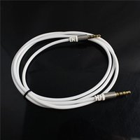 Wholesale DC3 mm AUX Audio Cables Fit for Cellphones mm Stereo Male to mm Stereo Male Audio Cables M Length OFC Material