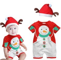 baby gift sets uk - Baby Christmas Cloths Outfits Boy Girl Kids Romper Hat Cap Set Gift for Y UK