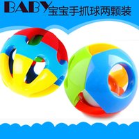 Wholesale 2pcs set educational musical toys year old newborn bell ball baby hand catch balls
