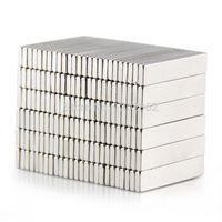 50pcs gros aimant permanent 25x5x1.5mm Cuboid N50 Rare Earth Magnet néodyme forte