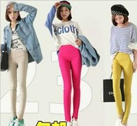 in season clothing - Age season leggings women s clothing in winter Pure color color pencil pants cultivate one s morality show thin nine minutes of p