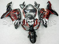 Wholesale Fairings For Kawasaki ZX10R ZX R Year ABS Motorcycle Full Fairing Kit Bodywork Carene Cowling Black Red Flame