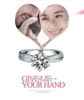 american beauty stars - 925 sterling silver Finger Rings The Female star shine Finger ring The beauty Finger rings