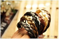 Wholesale New Synthetic Fiber hairpeice Ponytail Elastic Hair Rope Holers Hairban hair rings to decorate Hair Care Styling tools style free ship
