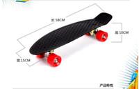 Wholesale four wheel street longboard fish skate board pastel color banana board mini cruiser long skateboard inch