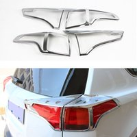 Wholesale 2Pcs Set ABS Chrome Trim Styling Rear Tail Light Lamp Cover Car Decoration Accessories For Toyota RAV4