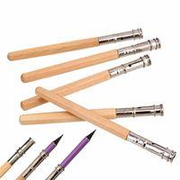 art pencil holder - New Fashion Adjustable Pencil Extender Lengthener Holder Art Writing Hobby Tool For School Office Supplies