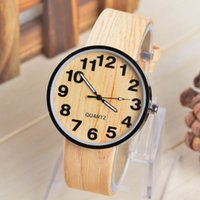 wood watch - New watches Watch fashion wood grain color more men and women Wood grain silicone strap quartz watch