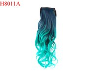 pony hair - 2015 New Inch cm DS Part Good Quality Fashion wave Synthetic Wrap Around Ponytail Hair Extension Pony Tail Ombre Colors H8011