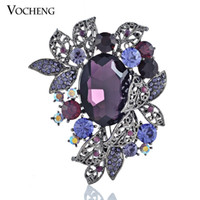 Wholesale Shawl Pin Rhinestone Brooch Fashion Jewelry Gift For Women Gold White Plated Colors Vintage Brooch Vx Vocheng Jewelry
