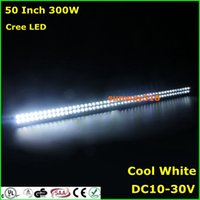 Wholesale 52 W creeLED work light bar spot flood Combo beam roof front driving lamps SUV offroad boat fog lamps stable inch WD