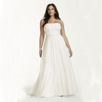 Wholesale Plus Size Chiffon Empire Waist Gowns With Appliques Beading Detail V9743 Wedding Dresses Beading Sash Bridal Dress