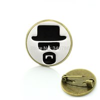 bad wedding dress - Punk style Fashion Breaking Bad brooches Heisenberg Print brooches pins Unique dress Accessory BP138
