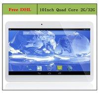 Gros-moins 10.1 pouces Android 4.4 Tablet PC Quad Core 2G RAM16G / 32G ROM 3G WiFi GPS Call Phone Dual Sim slot pour carte comprimés 1204